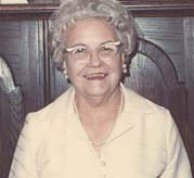 Sadie Trombly Schulte in 1971, 50th Wedding Anniversary Celebration